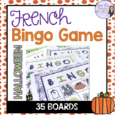 French bingo Halloween and fall AUTOMNE