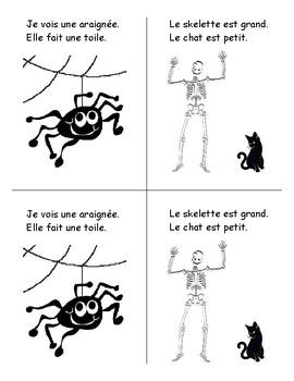 French Halloween booklet for primary students