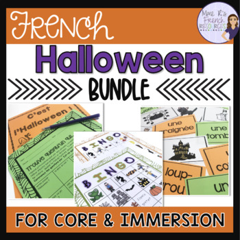 French Halloween bundle speaking and writing