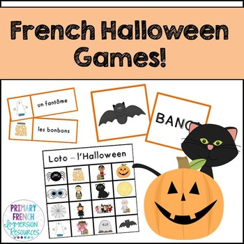 French Halloween flashcards & vocabulary games - Le vocabu