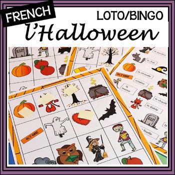 (French) Halloween – l'Halloween – LOTO (Bingo) Game