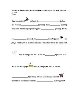 French Halloween mad lib by Sarah Frenchteacher | TpT