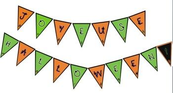French Halloween pennant banner - Joyeuse Halloween