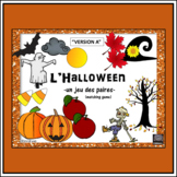French Halloween - un jeu des paires - matching game