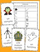 French Halloween vocabulary activities, puzzles and games