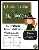 French Halloween word of the day (le mot du jour: pour l'Halloween) - SAMPLE