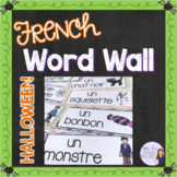 French Halloween word wall/ Mur de mots - l'Halloween
