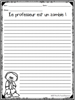 French Halloween writing prompts SUJETS D'ÉCRITURE L'HALLOWEEN
