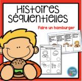 French Hamburger Sequencing activity/ Histoires séquentiel
