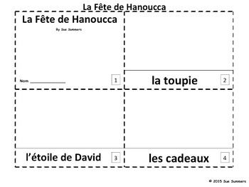 French Hanukkah 2 Emergent Reader Booklets