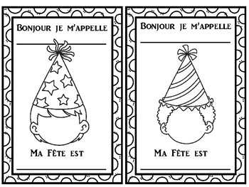 French Happy Birthday Bonne Fête Writing activity for the beginning of the year.