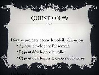 French Health Quiz PPT