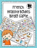 French Healthy Bodies Bingo Game - Bingo de la Santé -Colour