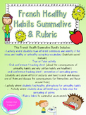 French Healthy Choices Summative Bundle and Rubric