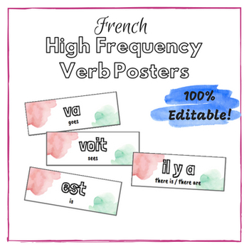 French High Frequency Verb Posters