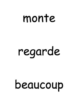 French High Frequency Words