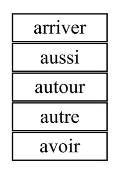 French High Frequency Words Flashcards - Set A, B, C