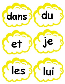 French High Frequency Words in Popcorn Shape