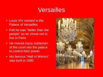 French History--Louis XIV Roi du Soleil PowerPoint