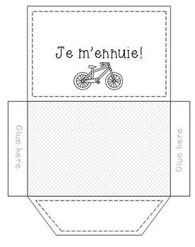 French Hobbies Interactive Notebook