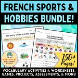 French Hobbies & Sports BUNDLE! [Les sports et les passe-temps]