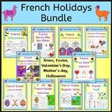 French Holidays Bundle - Xmas, Easter, Valentines day, Mot