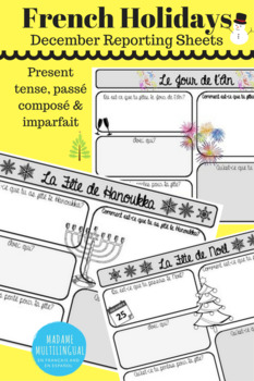 French Holidays | December Reporting Sheets