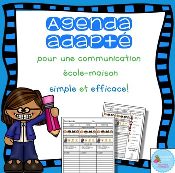 French Home-School communication/ Agenda adapté