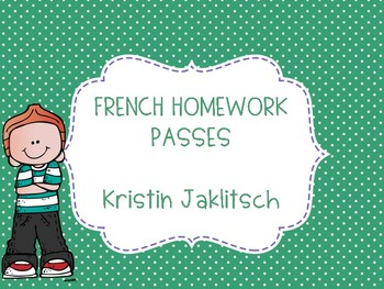 French Homework Passes