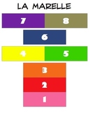 """French """"Hopscotch"""" Game for use with ANY Vocab, Grammar, or Culture"""