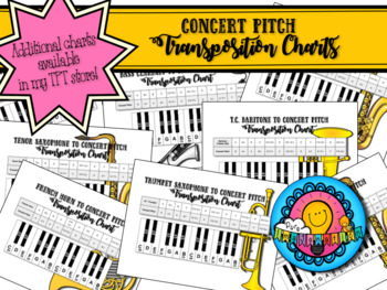 French Horn to Concert Pitch Transposition Chart