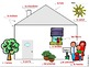 French House Bundle of 2 Labeling Activities - Exterior and Interior Diagrams