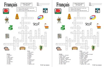 French House Crossword, Image IDs, and Vocabulary List