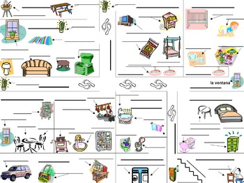 French House Diagram and Labeling Activity - La Maison