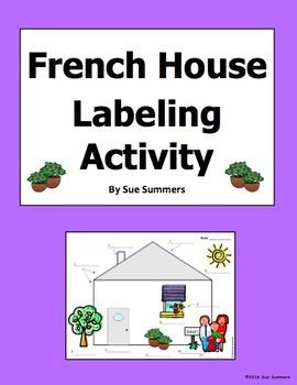 French House Exterior Diagram and Labeling Activity - La Maison