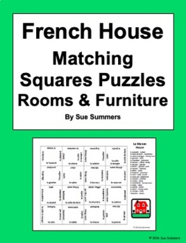 French House Matching Squares Puzzle - Rooms and Furniture