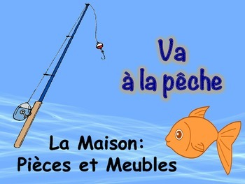 French House and Furniture Vocabulary Game (Va à la pêche-Go Fish)