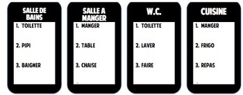 French Houses/Furniture Taboo Game