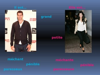 French I Adjective Introduction PowerPoint