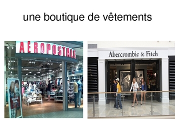 French I Clothing - Les vetements