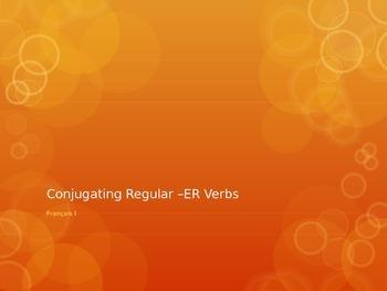 French I- Conjugating Regular -er Verbs