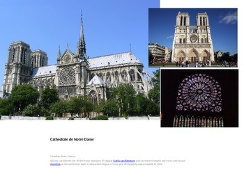 French I Cultural Lesson (famous places in France)