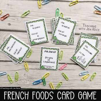 French: I Have, Who Has? Fruits & Vegetables Card Game {J'