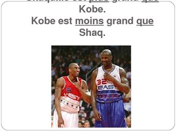 French I Le comparatif