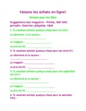 French I Online Shopping Web Quest