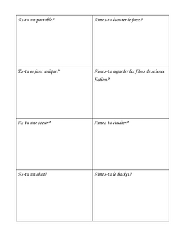 French Present tense Person Hunt