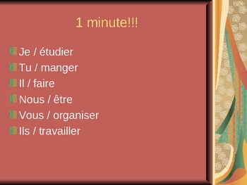 French I - Race the Clock Verb Conjugation