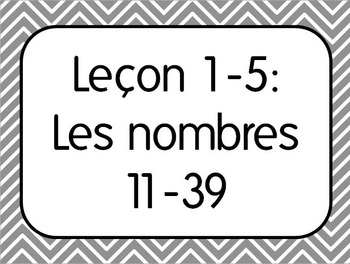 French I Unit 1 Lesson 5: Numbers 10-39/Les nombres 10-39 Lesson Plan