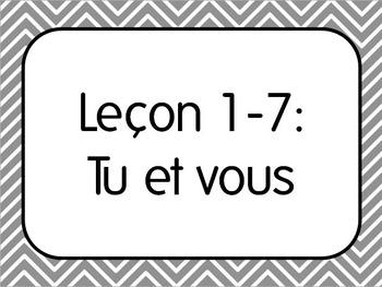French I Unit 1 Lesson 7: Tu vs.Vous/Formal Informal Conversation Lesson Plan