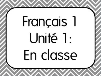 Basic French I Unit 1 for Beginners with 7 Lesson Plans & Activities + Unit Exam